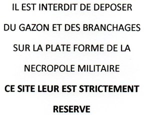 INTERDICTION DE DEPOSER