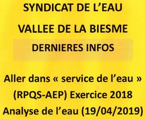 SYNDICAT DE L'EAU